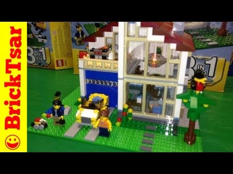 LEGO Creator 31012 Family House 3-1 set with lighting brick and other fire hazards