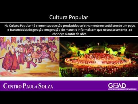 EJA/ART - M1 - Agenda 13 - Tipos de Cultura Erudita, Popular e de Massa