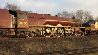 A Broken 6201 Princess Elizabeth Butterley MRC to Carnforth Steamtown 22nd February 2018