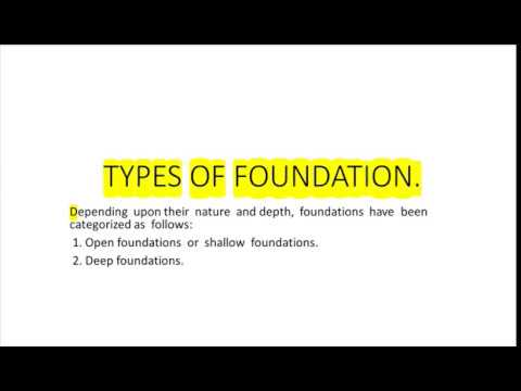 TYPES OF FOUNDATION || CIVIL ENGINEERING SUBJECTIVE MATERIALS || PART - 7