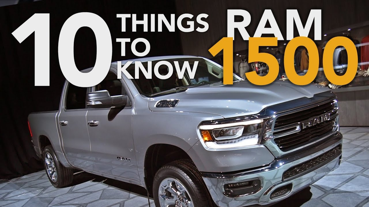 2019 Ram 1500: The 10 Things to Know - 2018 Detroit Auto Show - Dauer: 4 Minuten, 45 Sekunden