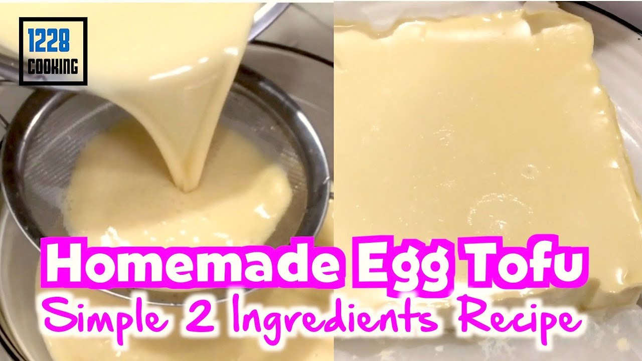 Homemade Egg Tofu 豆腐  | Very Easy 2 Simple Ingredients Recipe - a MUST Try