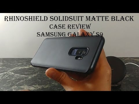 on sale 541ea ab1c1 Case Review : Rhinoshield Solidsuit Matte Black Samsung Galaxy S9 + ...