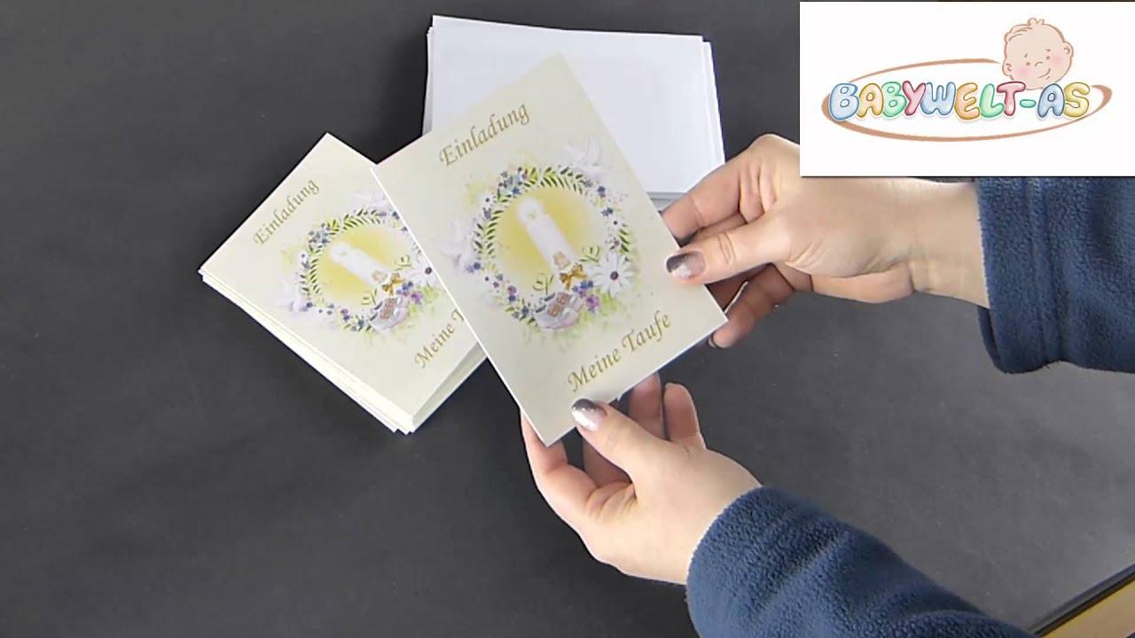 Taufeinladung Text Mit Einladungskarten Zur Taufe Motiv Taufkerze Und Tauben
