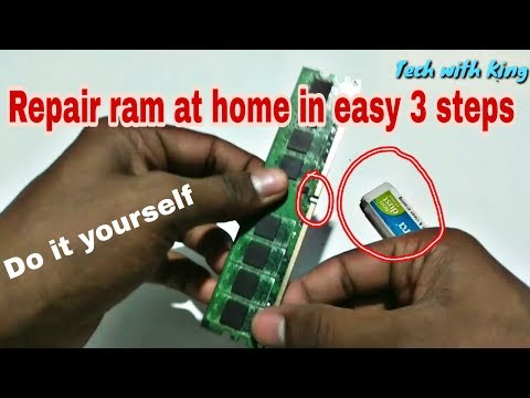 How to repair Ram at home in easy 3 steps | Cleaning ram | no Display pc | tech with king