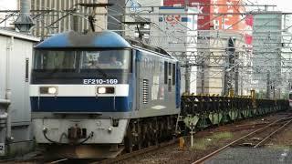サービス減光!JR貨物EF210-169号機+チキ5500形×18 8091レ 名古屋通過