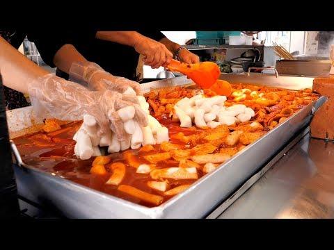 Giant Iron plate Tteokbokki – Korean street food