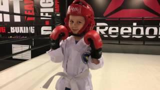 Тренировка и Показательный бой! Тхэквондо дети. Алина Щулева. D-FIGHT