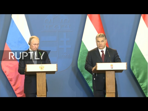 LIVE: Press conference following meeting between Putin and Orban in Budapest