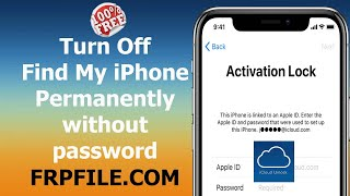 Free Turn off Find My iPhone permanently iphone, ipad locked passcode, disabled iphone, opened menu.