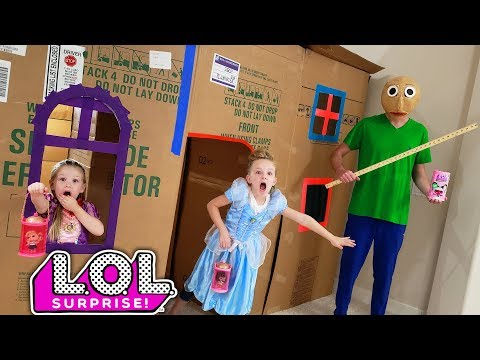 Baldi's Basics in Real Life! LOL Surprise Hair Goals Dolls Toy Scavenger Hunt!