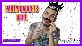 PARTY GADGETS HAUL (HAPPY2SHOP) + GIVEAWAY | Tsede The Real