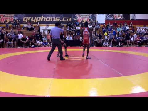 2014 Canada Cup: 57 kg Dylan Williams (CAN) vs. Marcel Ewald (GER)