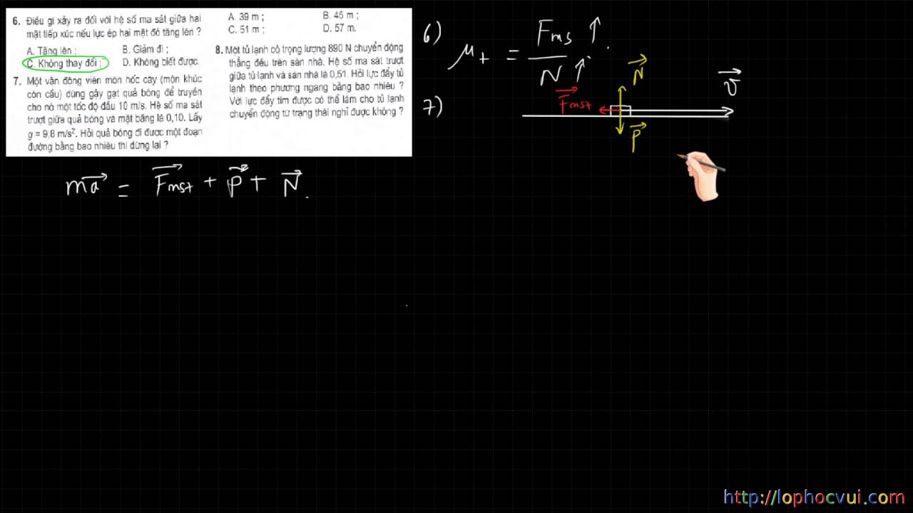 [Vật lí 10 cơ bản] Bài 13 – HƯớng dẫn giải bài tập SGK về Lực ma sát