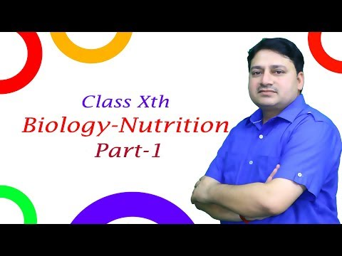 Class Xth Biology  Nutrition Part 1