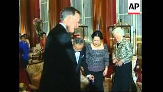 Former US President G. Bush meets Thailand King