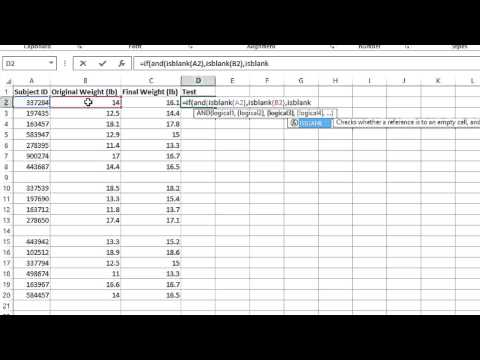 How To Use An If Statement In Excel To Delete Blank Rows Microsoft Office Lessons