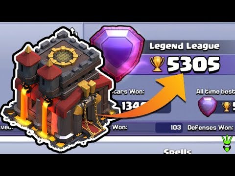HITTING 5300 TROPHIES AS A TH10! - TH10 Push to 6K -