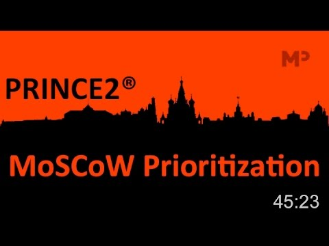 PRINCE2 2017- The MoSCoW Prioritisation Technique