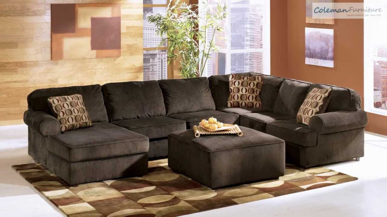Vista chocolate living room collection from signature for Living room ideas ashley furniture