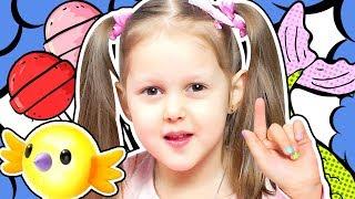 СВОИМИ РУКАМИ Делаем Лаки для ногтей Num Noms Хвост Русалки и Готовим Чупа Чупсы Конфеты Kids Video
