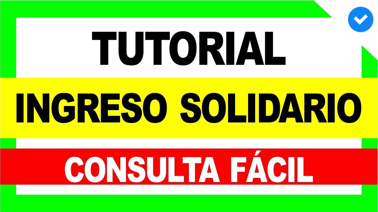 😍 Cómo Consultar INGRESO SOLIDARIO (x3) Rápido y Fácil ✅ [Tutorial] - Ingreso Solidario #2