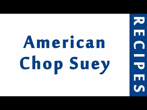 American Chop Suey | BEST RECIPES | EASY TO LEARN | RECIPES LIBRARY