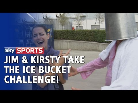 Jim White & Kirsty Gallacher take the ice bucket challenge
