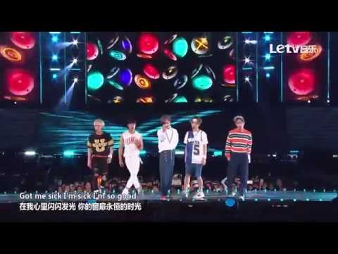 Shinee - View + Love Sick @ Letv 2015 Dream Concert Chinese Lyric Subtitle