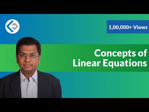 Concepts of Linear Equations (CAT/CMAT/GRE/GMAT)