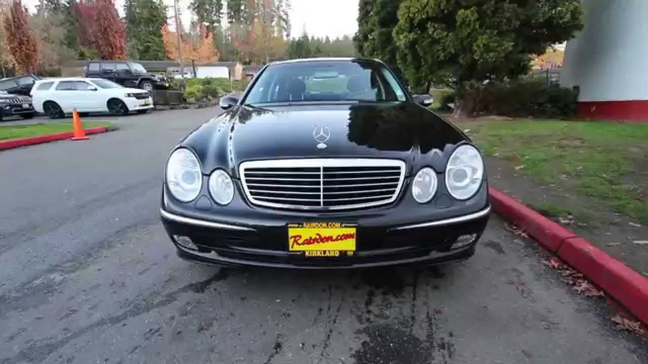 2004 Mercedes Benz E Class E500 Base | Black | 4A410013 | Redmond | Seattle