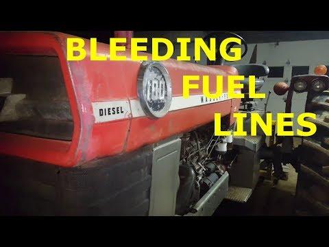Massey Ferguson 180 Bleeding The Diesel Fuel Lines After Running Out Of Diesel