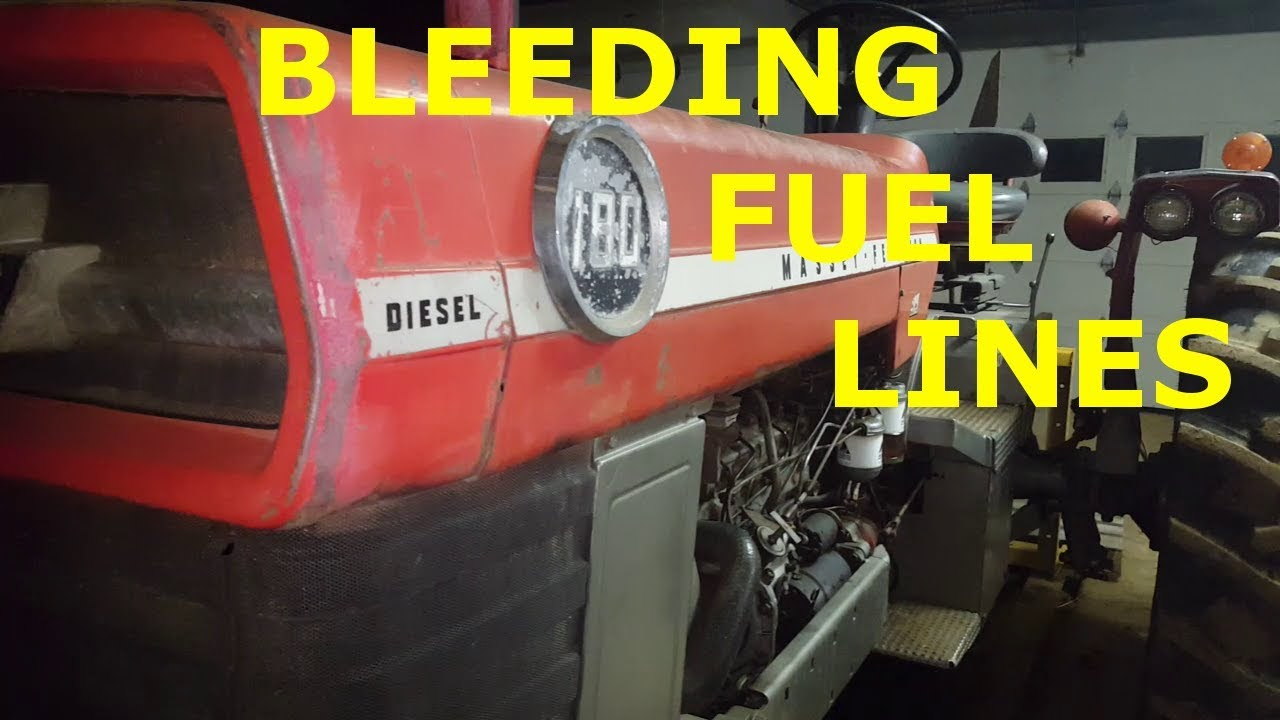 Massey Ferguson 180 Bleeding The Diesel Fuel Lines After Running Out Of  Diesel