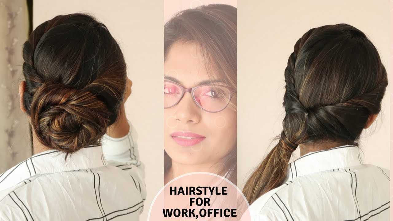 3 easy hairstyle for office ,work / self hairstyle /no teasing/no hairspray