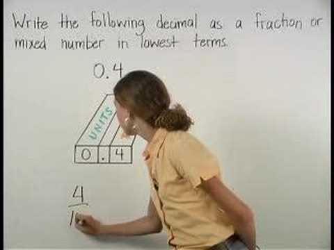 Decimals to Fractions - MathHelp.com - Math Help - YouTube