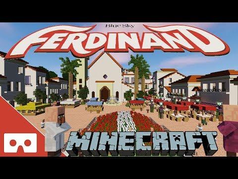Ep4 - Ferdinand Movie Market Square Minecraft VR 360°