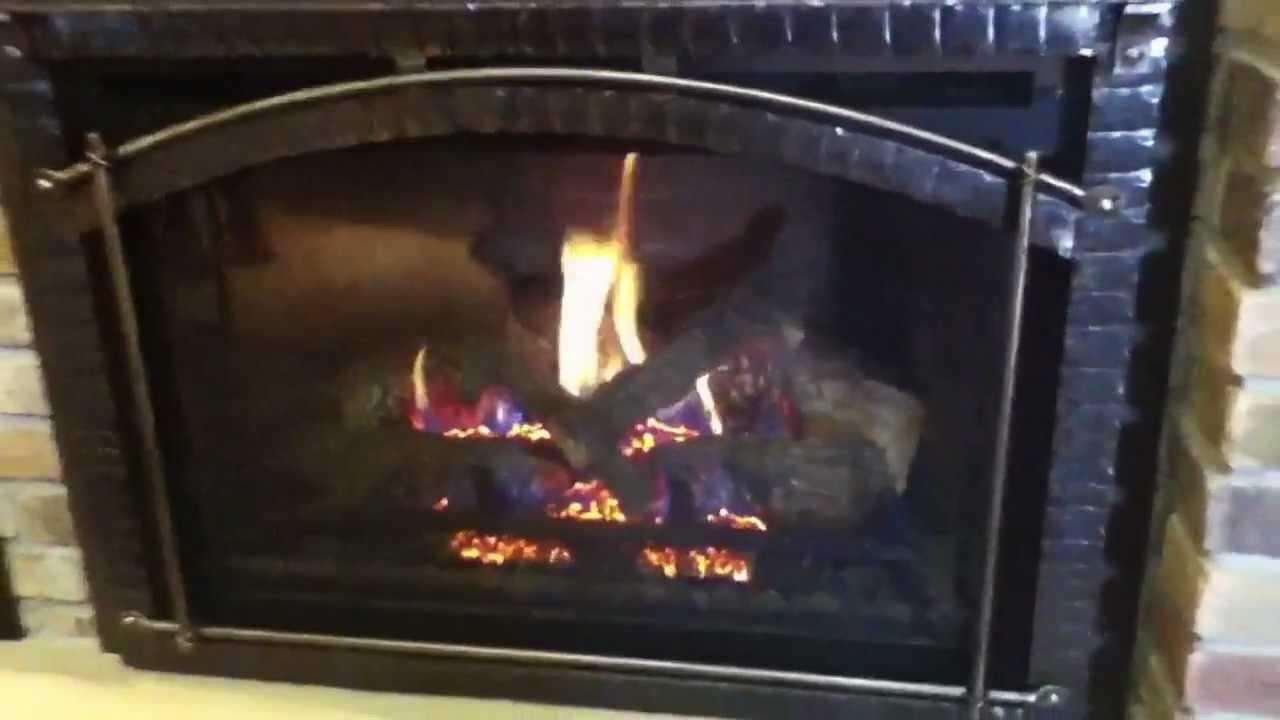 heat u0026 glo quad and heatilator gas inserts youtube