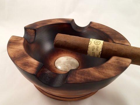 Woodturning -  Cigar Ashtray