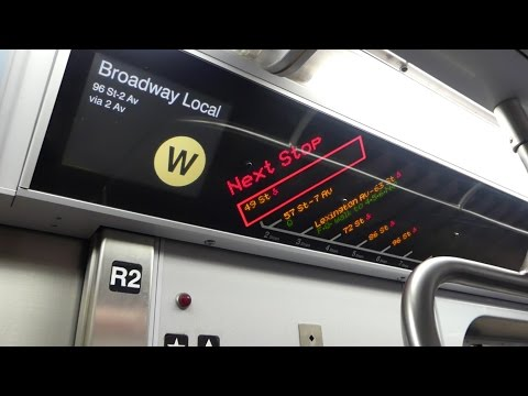 BMT Broadway Line: On Board R160B Siemens W Train via IND 2nd Ave from 49th St to 86th St-2nd Ave
