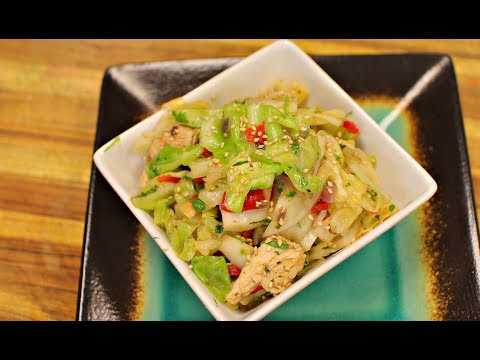 Keto Fried Cabbage And Chicken - Ketogenic Diet- Low Carb Recipe - Healthy Recipe