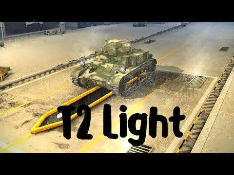 World of Tanks Blitz. T2 Light (прем танк 2 уровня). Летсплей