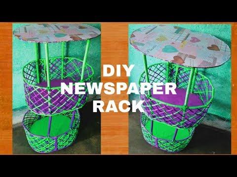 DIY Newspaper rack | waste newspaper ideas | home decor