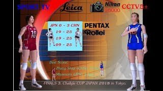 (FINALS 3) Rd5. China vs Japan - Volleyball Women's Challgle CUP JAPAN 2018.