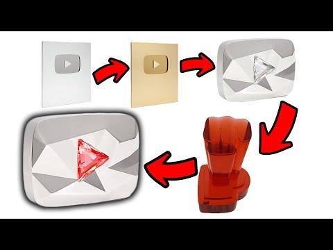 The New 100 Million Subscriber Award... The Red Diamond Creator Award Mp3