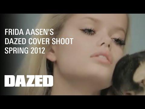 Frida Aasen's Dazed Cover Shoot - Behind the scenes