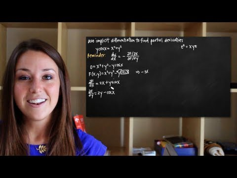 Implicit differentiation for partial derivatives of multivariable functions (KristaKingMath)