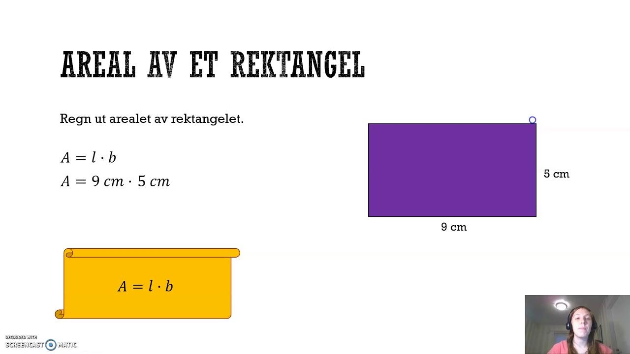 Omkrets og areal: Rektangel