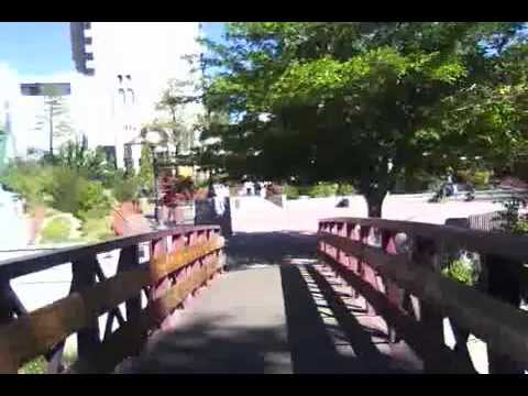Bicycling near West & First Streets in Reno, Nevada