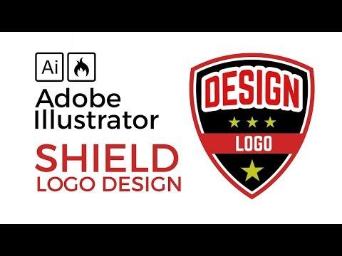 Illustrator Tutorial: Create A Shield Badge Defence Logo