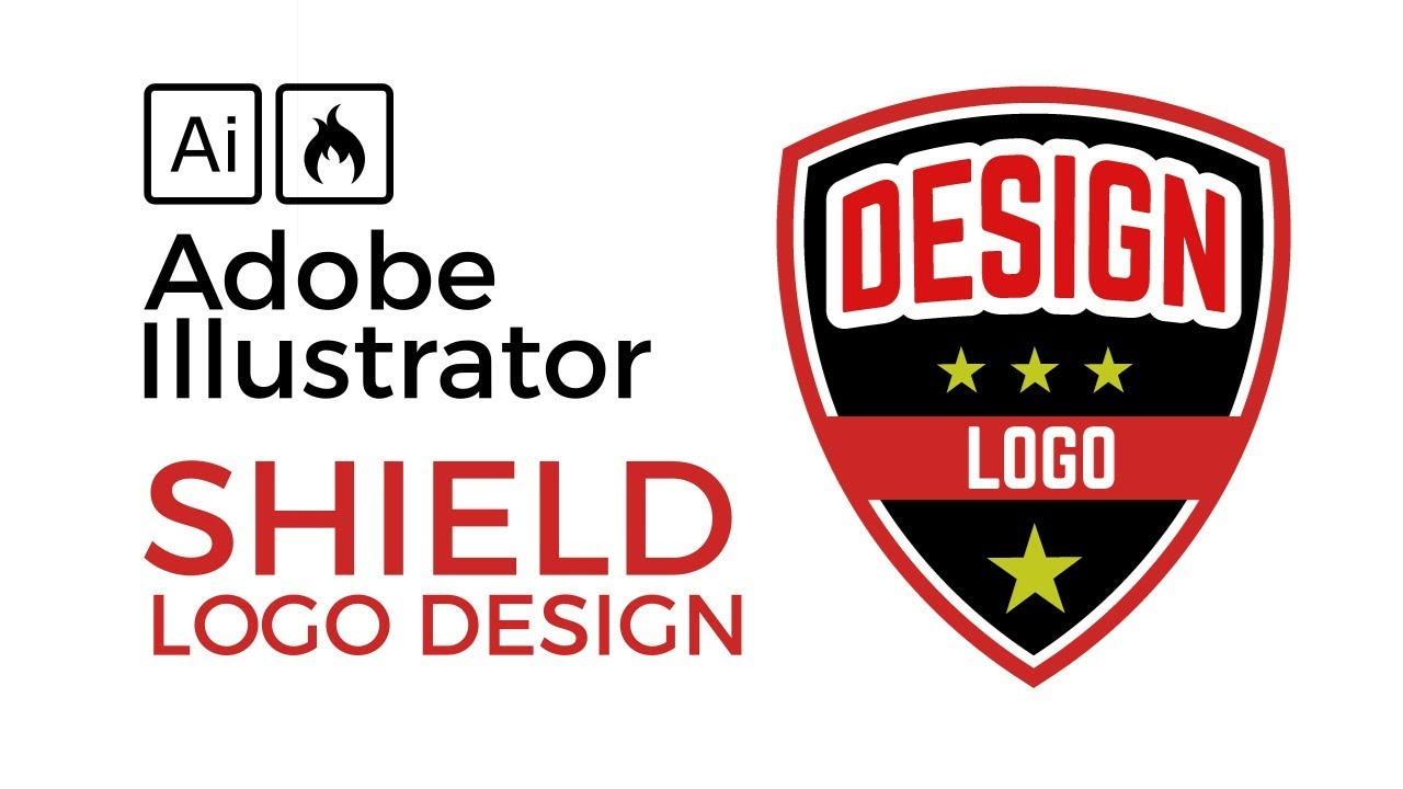 Illustrator Tutorial: Create a Shield Badge Defence Logo